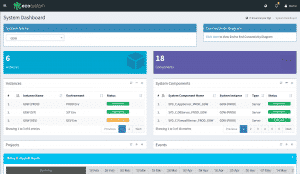 Enov8 Portfolio and Enterprise Release Management - System Dashboard